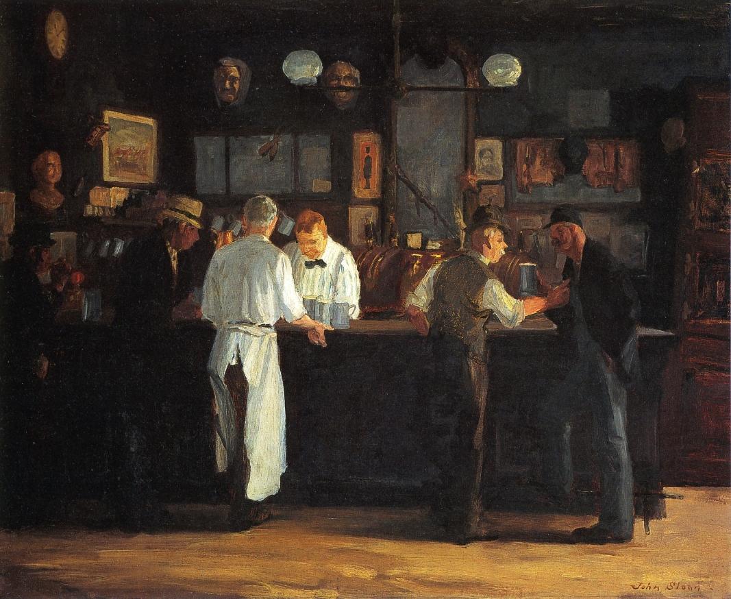 McSorley's Bar, 1912. John Sloan.